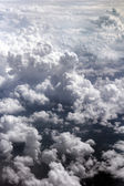 Clouds on the sky from above — Stock Photo