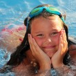 Stock Photo: Lillte Girl in the pool
