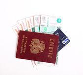 Passport and money — Stock Photo