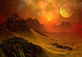 Fantasy Alien Planet — Stock Photo