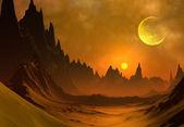 Fantasy Alien Planet — Zdjęcie stockowe