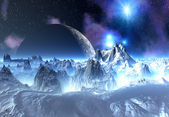 Fantasy Alien Planet — Stock Photo