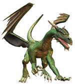 зеленый дракон — Стоковое фото