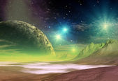 Alien Planet, Computer Artwork — Stock Photo