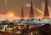 Alien Planet, Computer Artwork — Stock Photo