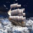 Sailing Ship - Computer Artwork — Stock Photo #19096871