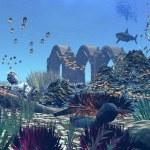 Fantasy Ocean Scene - Computer Artwork — Stock Photo #19097251