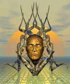 Fantasy Mask - Computer Artwork — Stock Photo