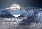 Alien Planet - Computer Artwork — Stock Photo