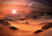 Alien Planet - 3D Rendered Computer Artwork — Stock Photo
