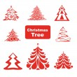 Vector Collection of Christmas Trees — Stock Vector