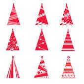 Colección de vectores de árboles de navidad — Vector de stock