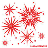 Vector firework — Stock Vector