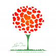 Valentine heart tree — Stock Vector