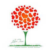 árvore do coração dos namorados — Vetor de Stock