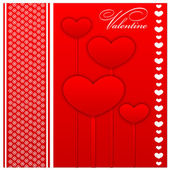 Feliz dia dos namorados e capina cartões — Vetor de Stock