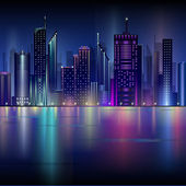Night city — Stock Vector