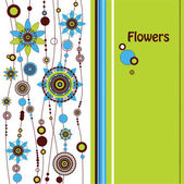 Dekorativní květinové pozadí — Stock vektor