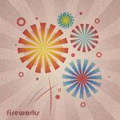 Retro Fireworks — Stock Vector