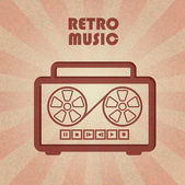 Retro cassetterecorder — Stockvector