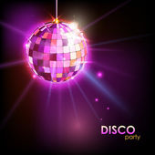 Disco ball. Disco background — ストックベクタ