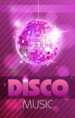 Disco poster — Vector de stock