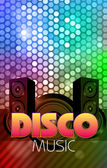 Disco poster. Abstract background — Stock Vector