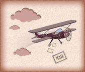 Retro letadlo — Stock vektor