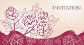 招待状の花を持つ — ストックベクタ