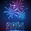 Stock Vector: New year 2014 background