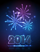 New year 2014 background — Stock vektor