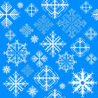 Stock Vector: Seamless pattern with snowflake