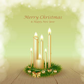 Christmas background with candles — Stock Vector