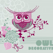 Decorative Owl — Stock Vector