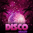 Stock Vector: Disco background. Disco poster