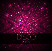 Disco ball. Disco background — Stock Vector
