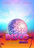 Disco background. Disco poster — Stock Vector