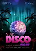 Disco background. Disco poster — Wektor stockowy