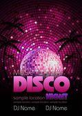 Disco background. Disco poster — Stock Vector