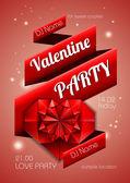 Tło valentine. dyskoteka plakat — Wektor stockowy