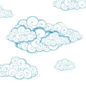 Decorative background with clouds. Sketch — Vector de stock