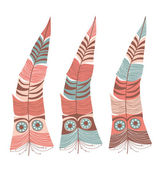 Decorative feather — Stock Vector