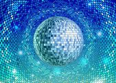 Disco ball. Disco background — Vector de stock