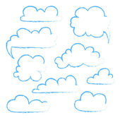 Set of speech bubble. Cloud — Stock Vector