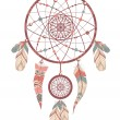 Stock Vector: Dream catcher. romantic