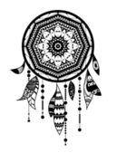 Dream catcher. romantic — Vector de stock
