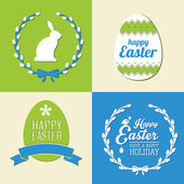 Vector set of easter  decorative elements and labels — Stok Vektör