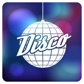 Bola de discoteca. diseño plano — Vector de stock