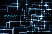 抽象的な電子ブルーの背景 — ストックベクタ