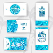 Set of geometric summer visiting card. corporate identity — Cтоковый вектор